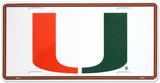University of Miami Plechová cedule