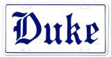 Université de Duke Plaque en métal