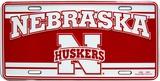 Universidad de Nebraska Cartel de metal