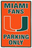 University of Miami Tin Sign