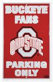 Ohio State Plaque en métal