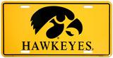 Universidad de Iowa Cartel de chapa