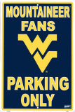University  of West Virginia Tin Sign