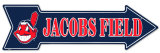 Jacobs Field  Cartel de chapa