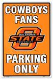 Universidad del estado de Oklahoma Cartel de metal