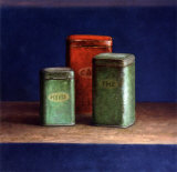 Tin Boxes I Kunst von Van Riswick 