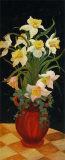 Daffodils at Dark Posters by Leila Platt