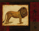 Savanna Lion Prints by Linda Wacaster