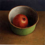 Green Bowl II Print by  Van Riswick