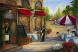 Cafe de Vittori I Art by Linda Wacaster