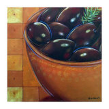 Bol Olives Noires Posters by Chantal Godbout