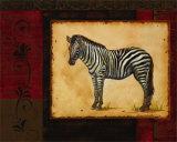 Savanna Zebra Print by Linda Wacaster