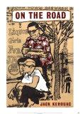 Unterwegs von Jack Kerouac Poster von Len Deighton
