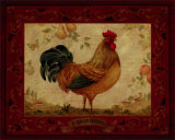 Gallo Dorato Affiches par Pamela Gladding