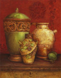 Tuscan Urns I Prints by Pamela Gladding