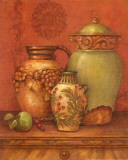 Tuscan Urns II Art by Pamela Gladding