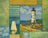 Lighthouse Collage II Print by Paul Brent