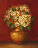 Tuscan Hydrangeas Poster by Pamela Gladding