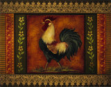 Mediterranean Rooster VII Print by Kimberly Poloson
