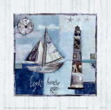Light House Print by Katherine &amp; Elizabeth Pope