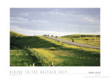 Riding to the Buffalo Chip, Sturgis, South Dakota, 1993, Art Print