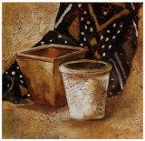 Pot et Tissus II Poster by Olga Ilic