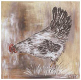 Poule Blanche Print by  Clauva