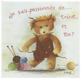 Je Suis Passionnee de Tricot et Toi Posters by Joëlle Wolff