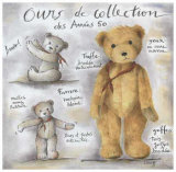 Ours de Collection des Annees 50 Print by Joëlle Wolff