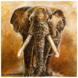 Elephant Art by Olga Ilic