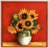 Tournesol en Jarre Prints by Vincent Jeannerot