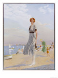 The Kodak Girl, a Reminder to Everyone to Take Their Kodak Camera with Them to the Seaside Giclee Print
