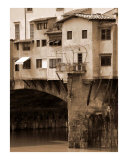 Shops on the Ponte Vecchio Photographic Print by Donna Corless