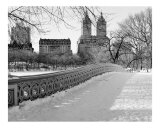 View from Bow Bridge in Winter - Central Park, New York - B/W Photograph Photographic Print by DW labs