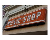 Music Shop Sign Photographic Print by James Davidson