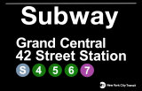 Subway Grand Central 42 Street Station Placa de lata