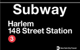 Subway Harlem- 148 Street Station Tin Sign