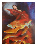 Dancer of Flame Giclee Print by Cindy Davis