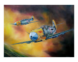 Messerschmitt 109's Attack Giclee Print by jack connelly