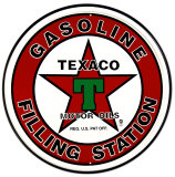 Texaco-Tankstelle Blechschild