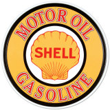 Gasolina y aceites Shell Cartel de metal