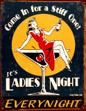 Ladies Night Emaille bord