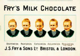 Fry's Milk Chocolate Tin Sign