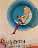 Blue Moon Stockings Emaille bord
