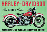 Harley Twin Tin Sign
