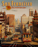 San Francisco Plaque en métal par Kerne Erickson