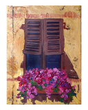 Montalcino Flower box Giclee Print by Angie Brooksby