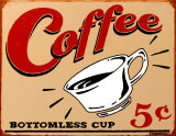 Coffee Tin Sign by B. J. Schonberg