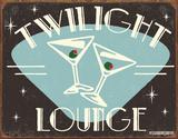 Twilight Lounge Blikskilt af B. J. Schonberg