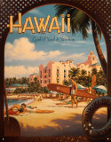 Hawaii Tin Sign by Kerne Erickson